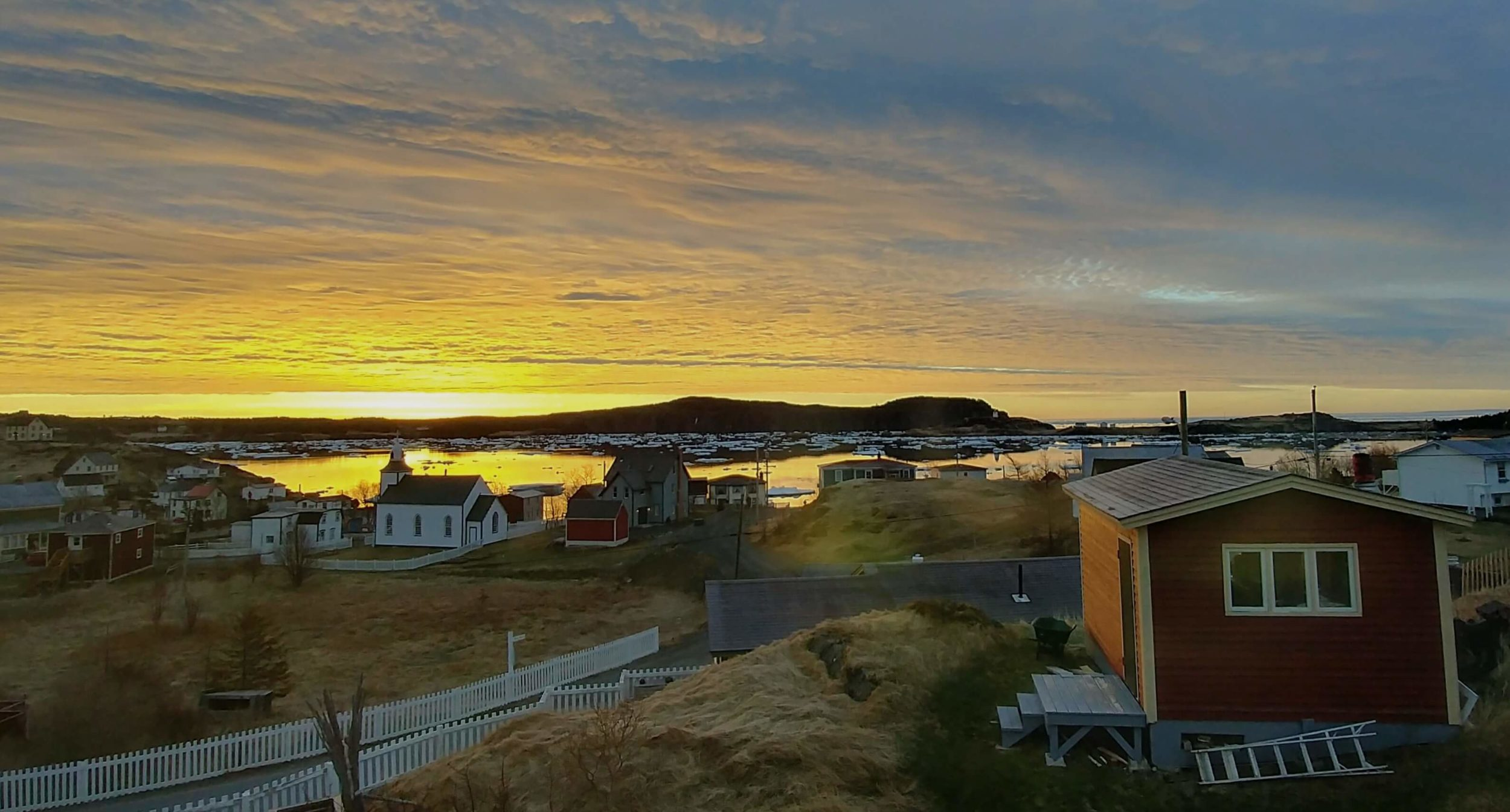 Sunrise over Trinity, Newfoundland