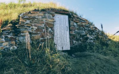 One of many root cellars throughout the community of Elliston