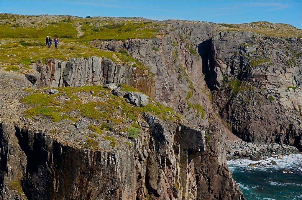 High rocky cliffs in Newfoundland