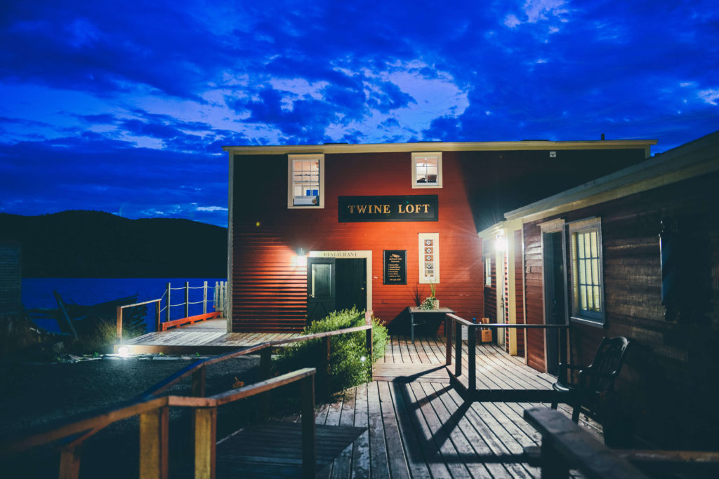 Traditional Fishers storage shed converted into Twine Loft restaurant