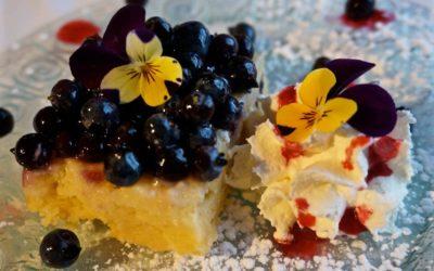 Blueberry Lemon Torte