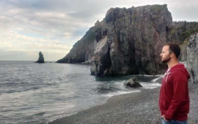 Watch for humpback whales on the beach of Fort Point, Trinity