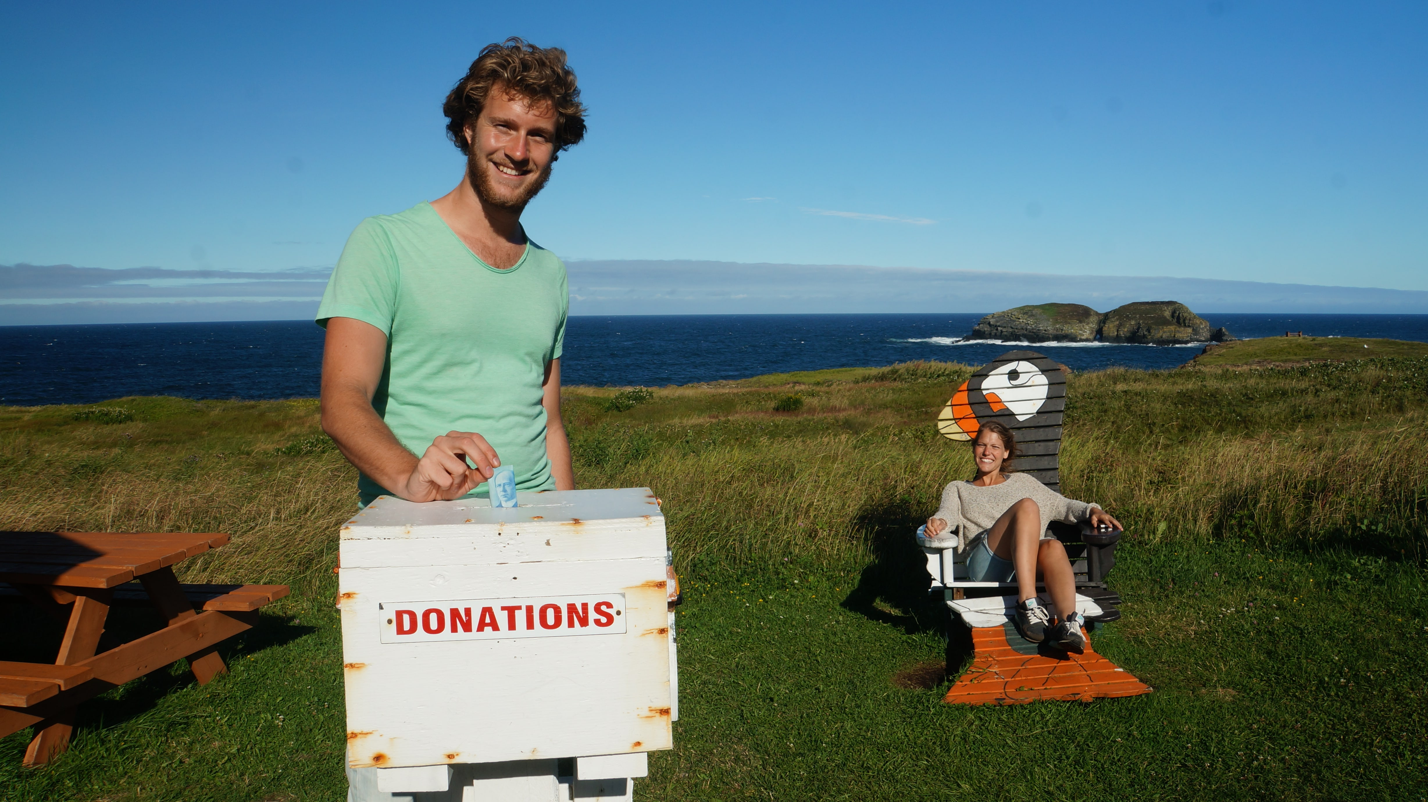 Puffin Viewing Donation Box