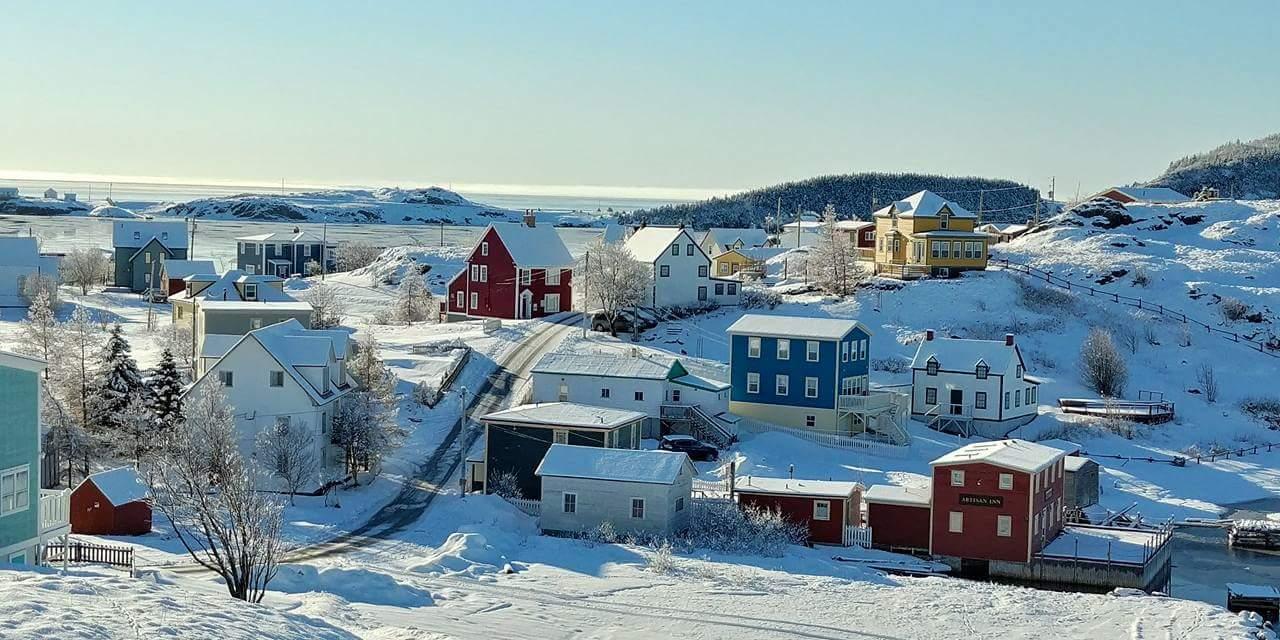 Winter in Trinity Artisan Inn Buildings