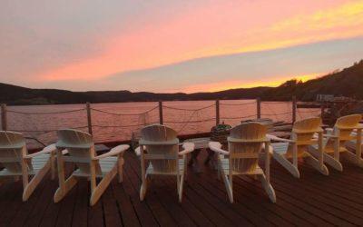 Sunset from Twine Loft Deck