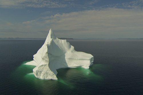 A large iceberg off the coast of the Bonavista Peninsula Newfoundland