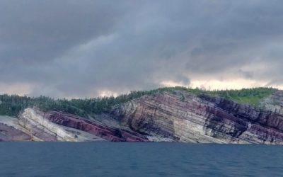 Purple Cliffs of Kings Cove on the Bonavista Peninsula